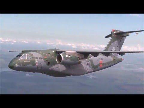 Brazil Air Force - KC 390 - flight test - 2016 - is a new military trans...