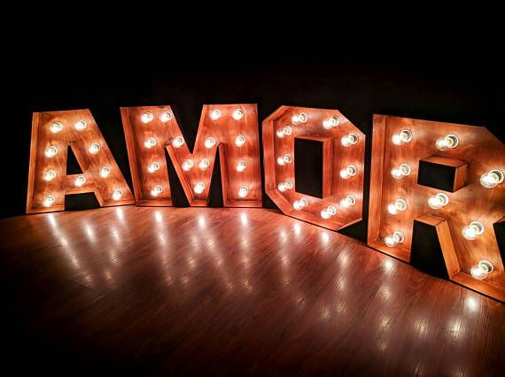 40 Giant Marquee Letters Large Amore With Lights