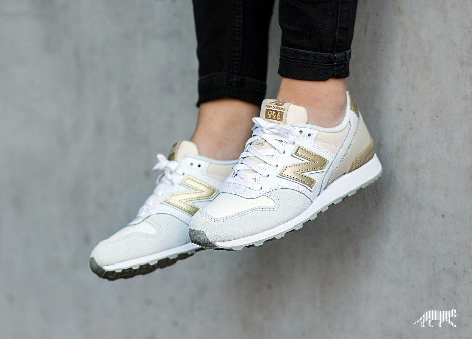 new styles 2028b fcfcd New Balance WR.996.IE.white/beige/gold | shoes | Shoes heels ...