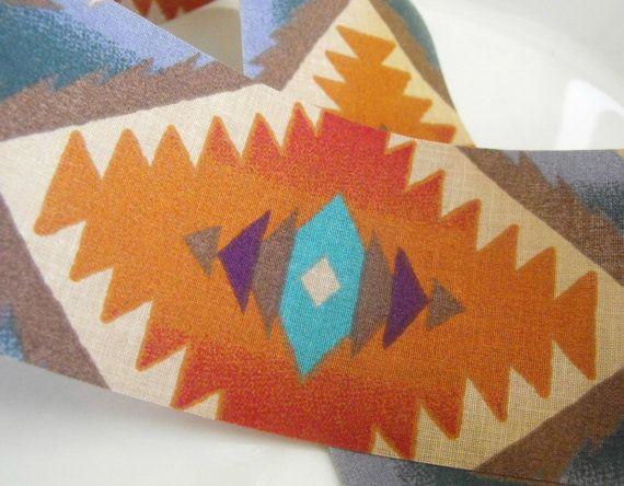 Southwestern Fabric Ribbon 5 Yards by AJStuff on Etsy