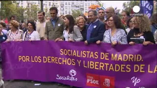 Marchas festivas en España tras la retirada del anteproyecto de la ley del aborto