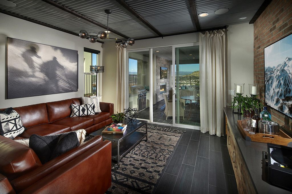 Superb Music Lounge At Arista Plan 3 | New Homes In Santa Clarita In The Exclusive  Aliento
