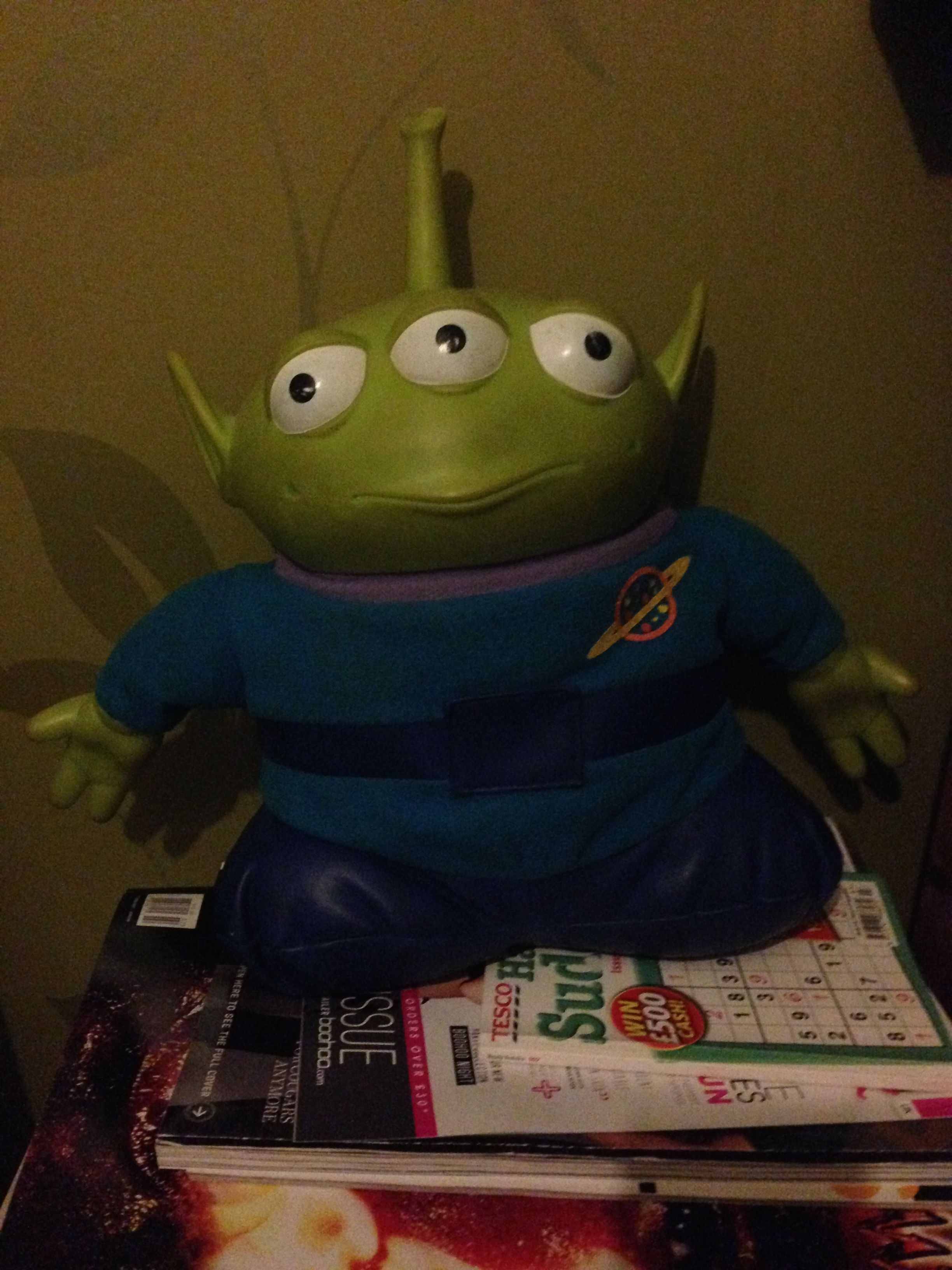 O - Object - My Alien from Toy Story. I've had him since I was 6, he's got a lightbulb in his antenna and he speaks and he still works nearly 20 years later!