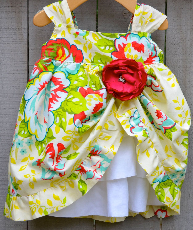 Baby Girl Summer Garden Party Dress Custom Designer Boutique Infant Xs Xl Toddler 1t 4t A Girls Clothes Sewing Baby Girl Summer Baby Girl Dresses [ 1500 x 1254 Pixel ]
