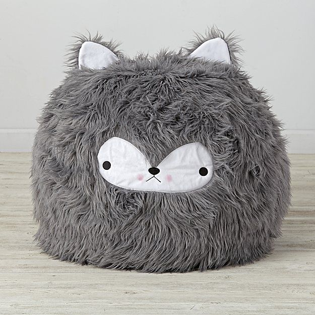 Miraculous Small Wolf Bean Bag Chair The Land Of Nod In 2019 Bean Squirreltailoven Fun Painted Chair Ideas Images Squirreltailovenorg