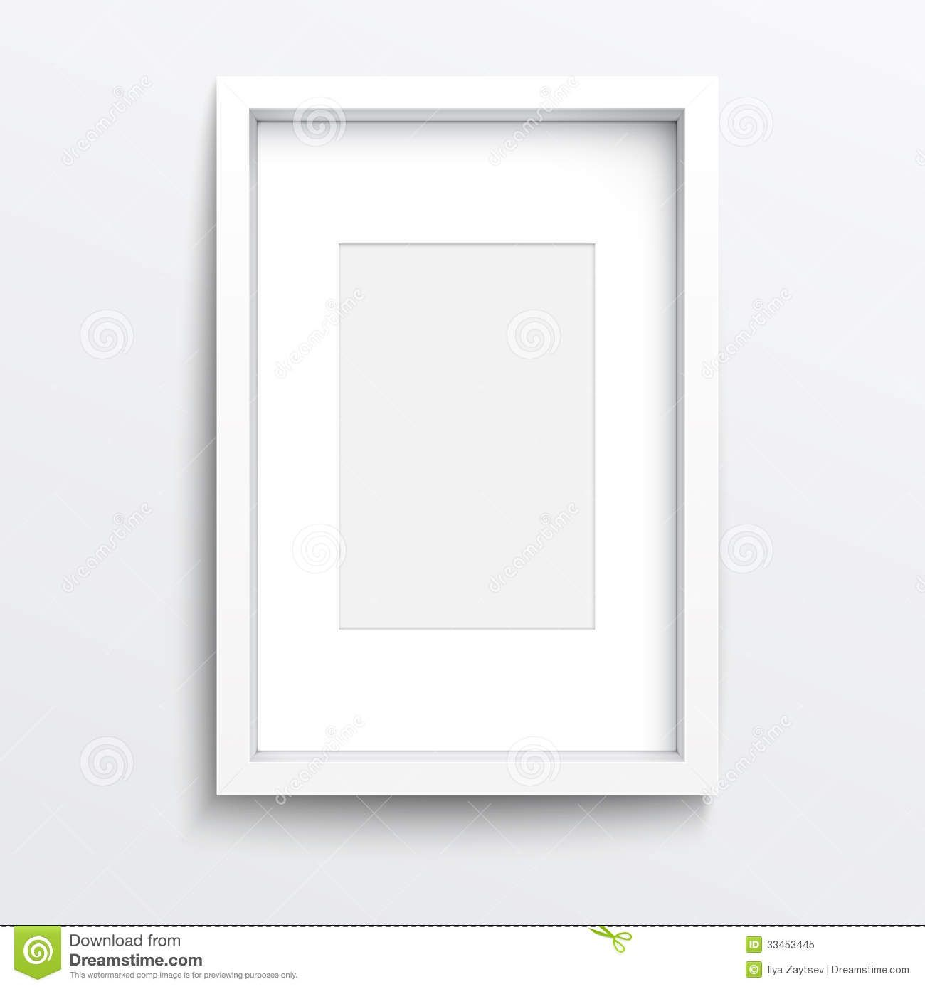 white frame on white wall google search