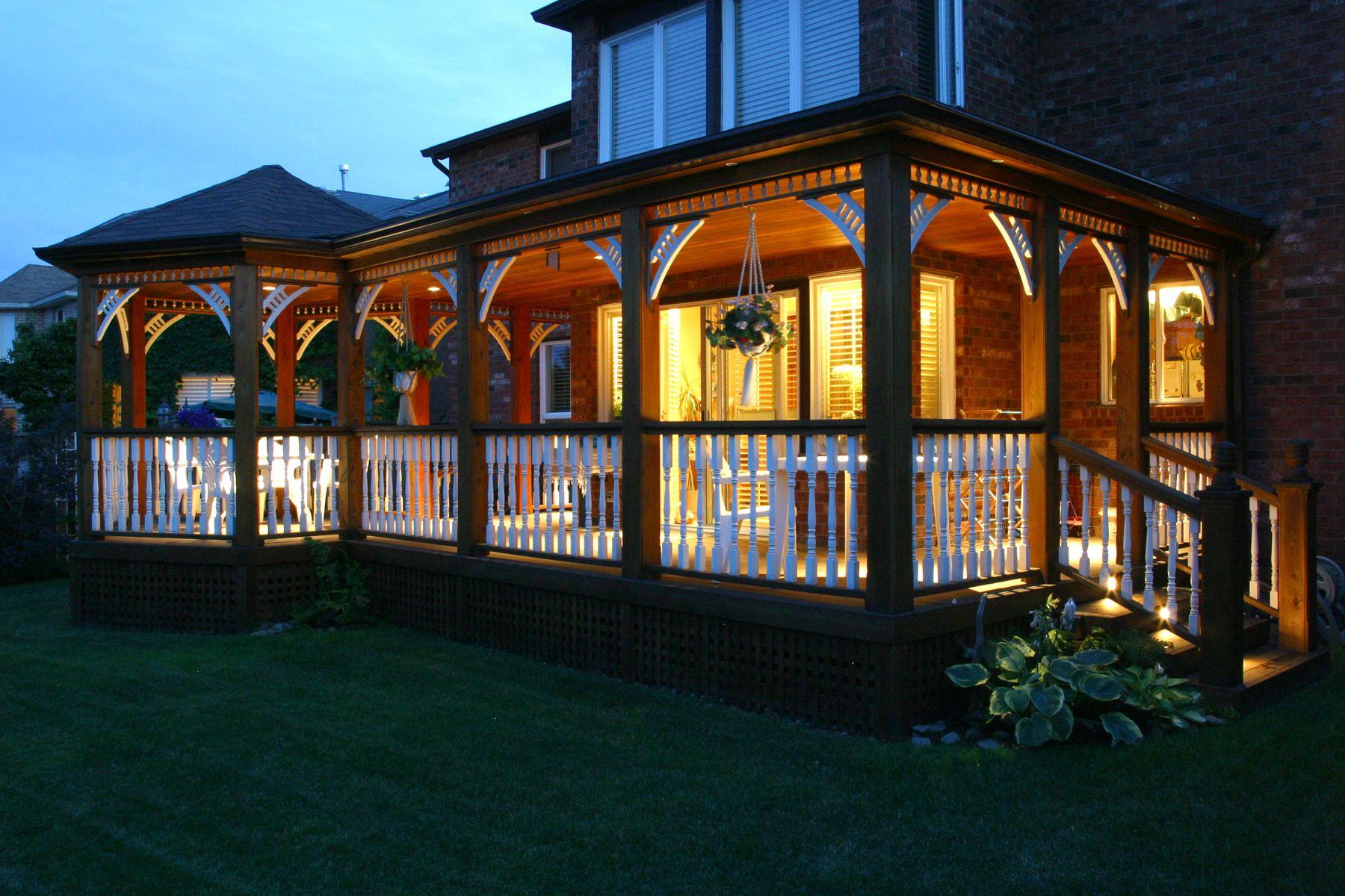 A nice back porch in Oakville, Ontario.