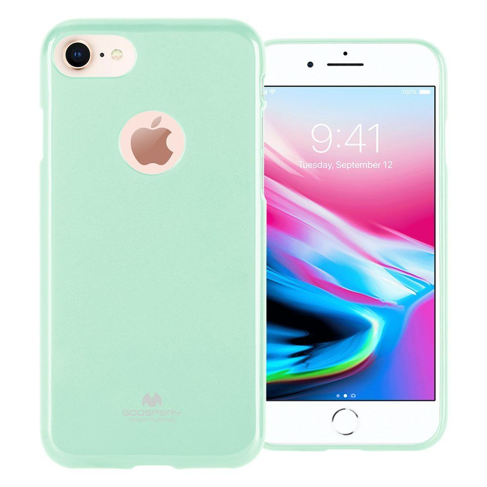 Goospery Marlang Iphone 8 Case Mint Green Free Screen Samsung Galaxy S7 Edge Soft Feeling Jelly Black Protector Slim Fit