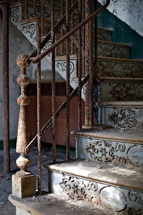 Dove Gray Home Decor ♅ Old Staircase Neat Iron Staircase At The Abandoned  Weston State Hospital In West Virginia. Love The Detail!