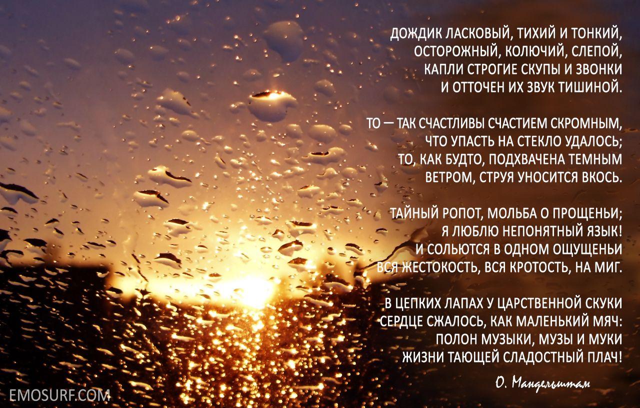 Стихи о дожде с картинками