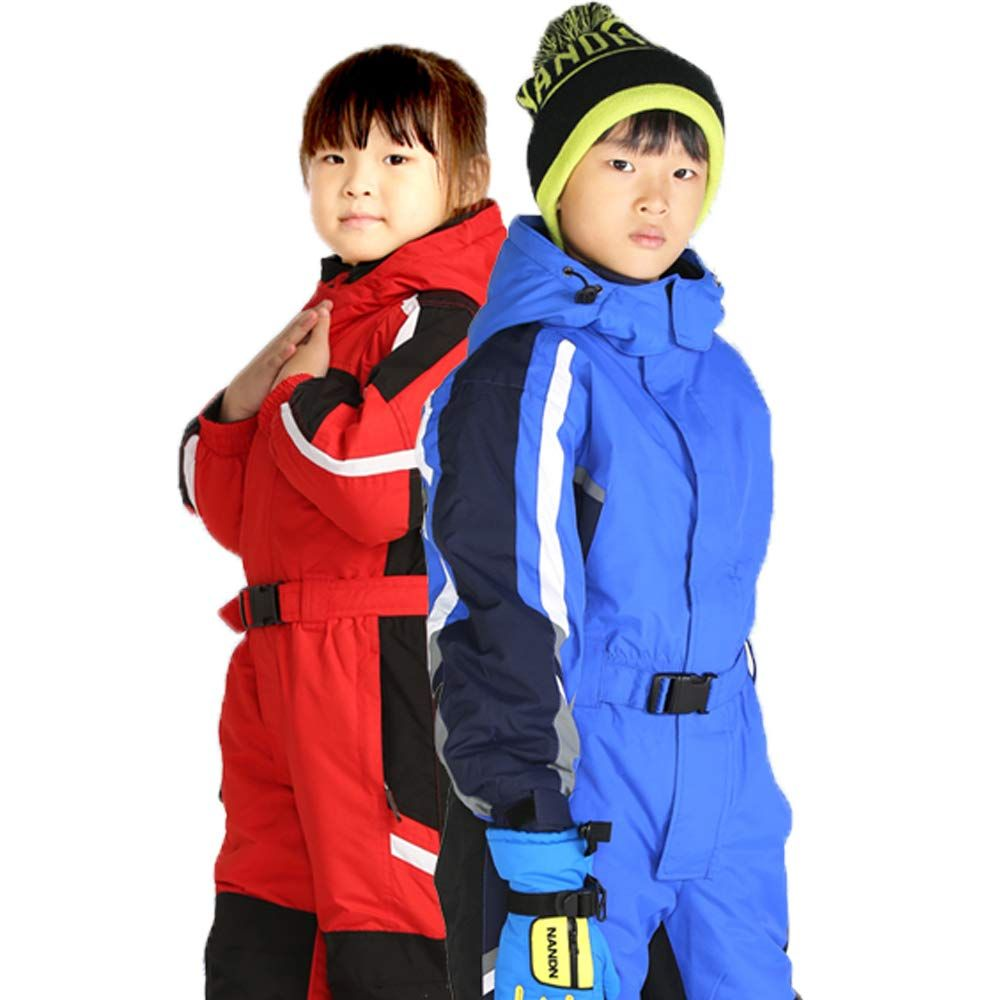 33ef3b0fa PRESELF@ OnePiece Winter Snowsuit for Boys Girls Waterproof Windproof  WearResistant Reflective Stripe 3T BlueMay Arrive After Christmas ** Check  this ...