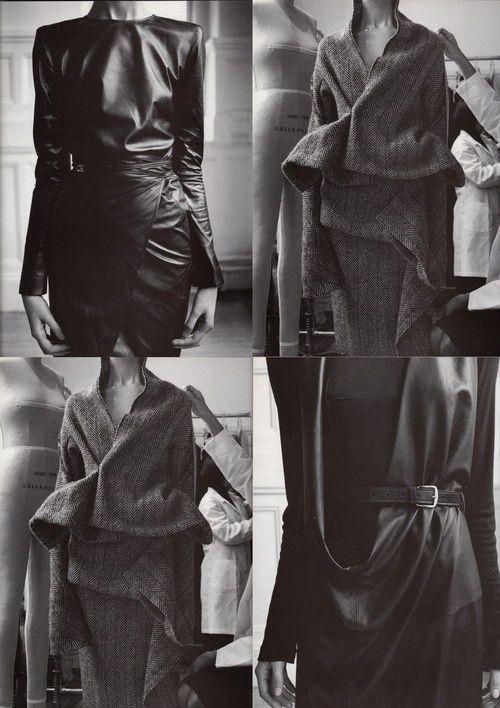 Yohji Yamamoto & Maison Martin Margiela, f/w 1998  Maggie Rizer by Steven Meisel for Vogue Italia