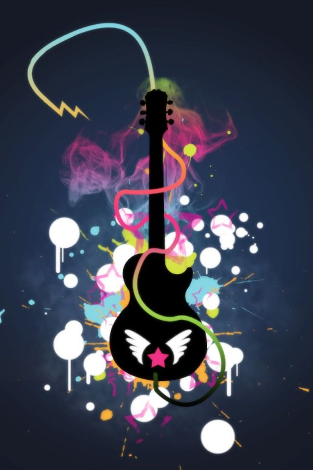 Peace Guitar Abstract Iphone Wallpaper Iphone Wallpaper Free