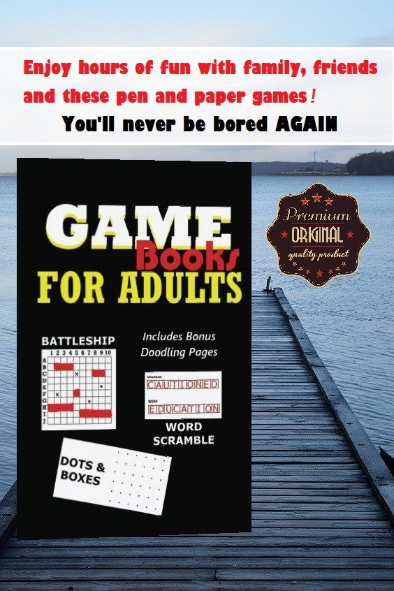 Look inside for yourself...This fantastic game book for adults has 300 game  boards for you to play battleship, anagrams and dots and boxes with friends  and ...