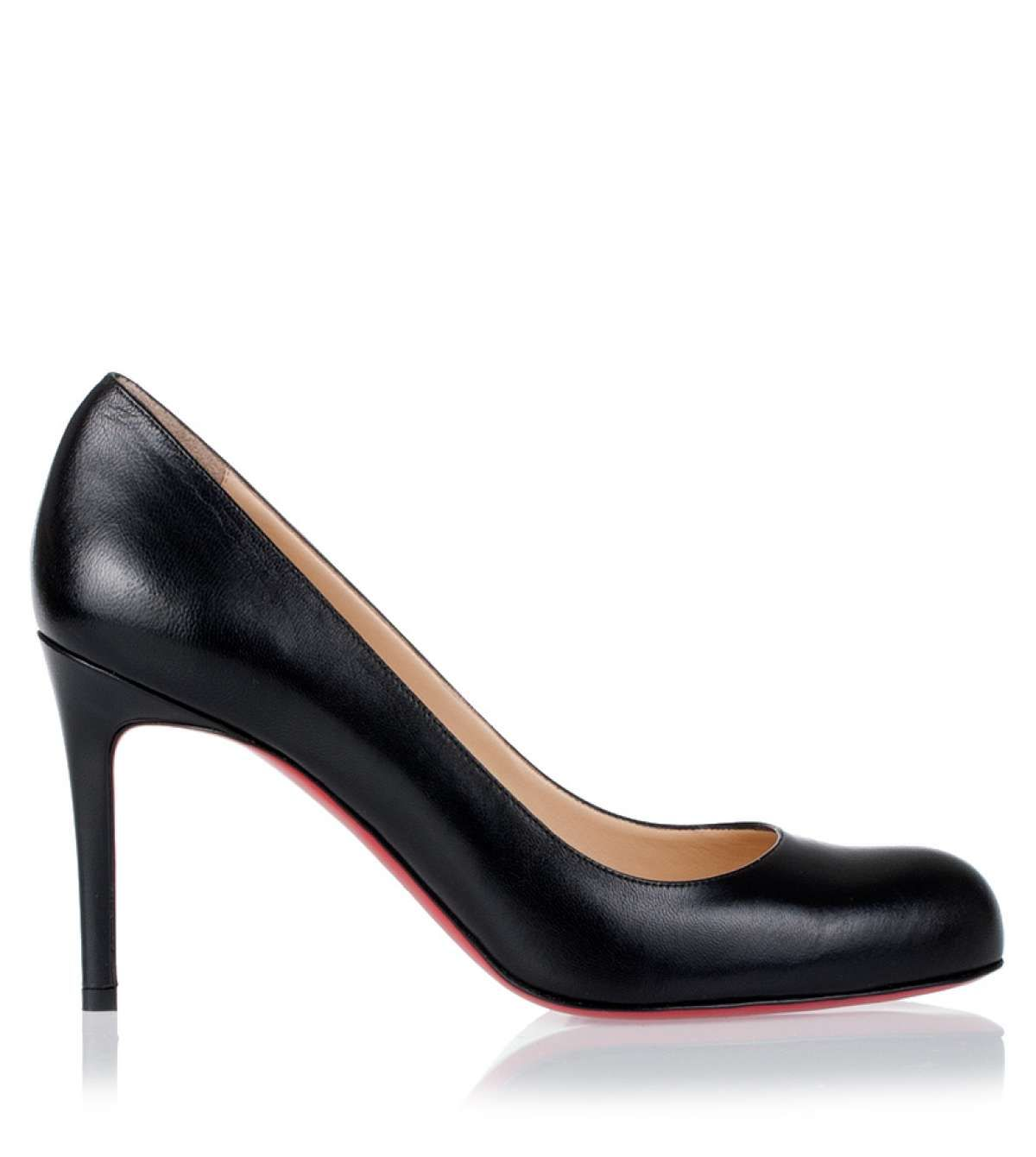 Simple pump 85 black leather Christian Louboutin - Savannah's