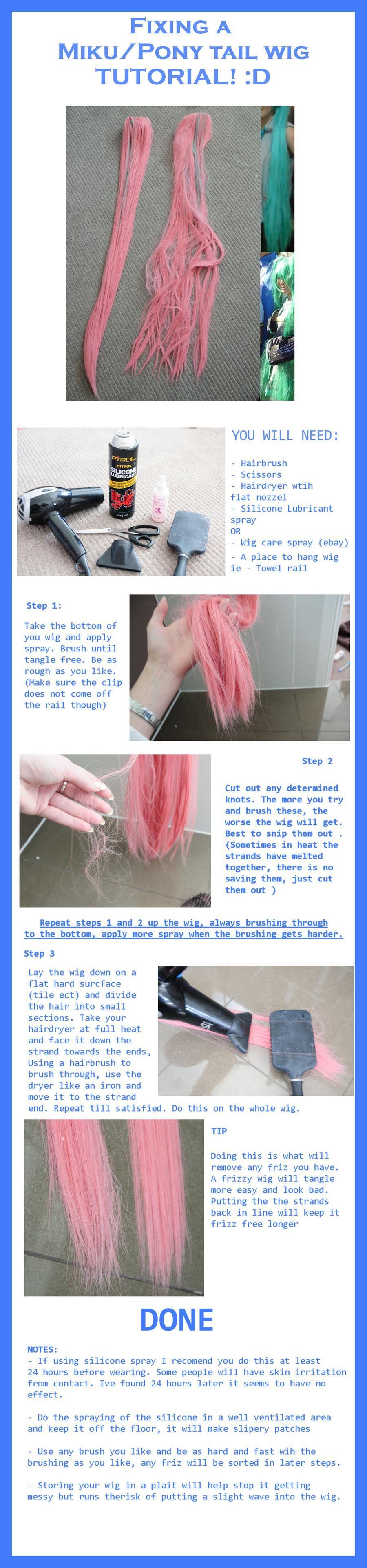 Tutorial Fixing Ponytail wig by LolaInProgress on