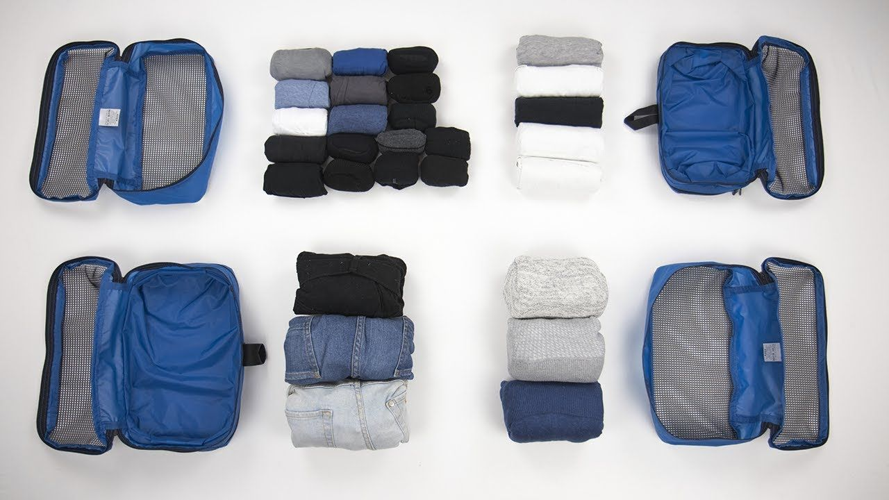 6 Amazingly Compact Ways To Fold Clothes For Packing Part Two Youtube Folding Clothes Packing Clothes Suitcase Packing