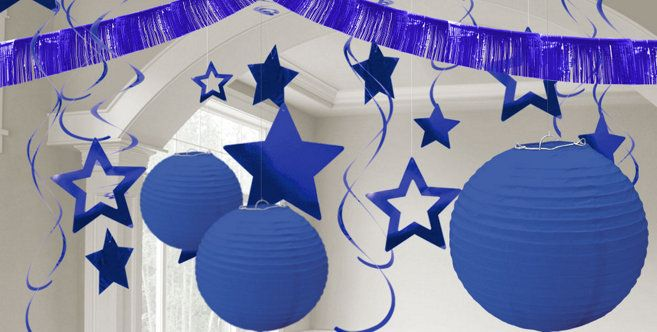 Royal Blue Decorations Blue Paper Decorations Custom Banners