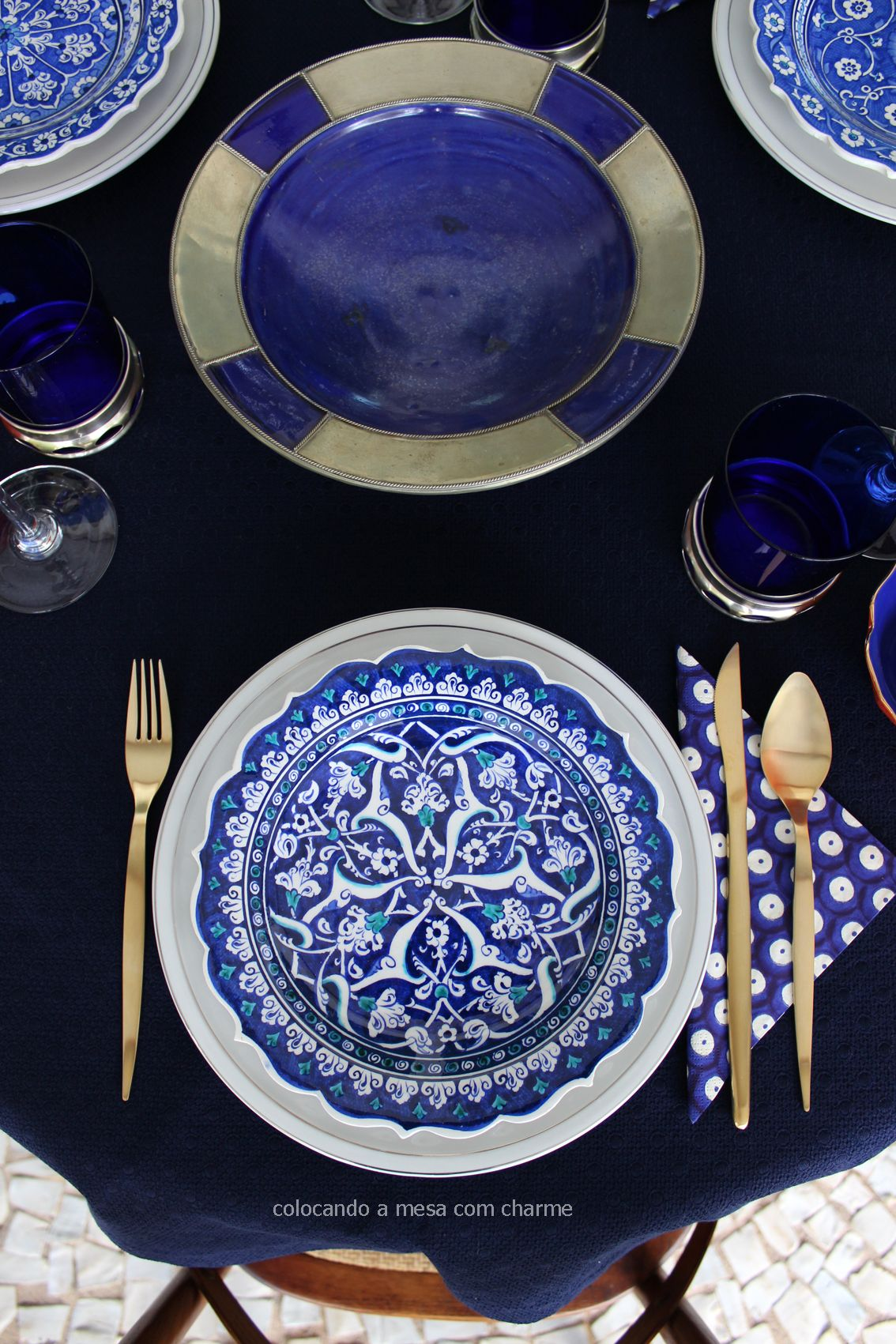 maroccan | turkish style | table setting | blue