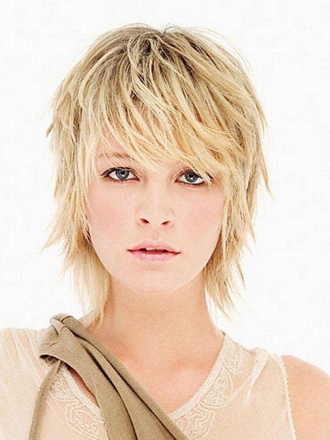 Short Hairstyles For Women Shag Haircut Blonde Hair Pinterest