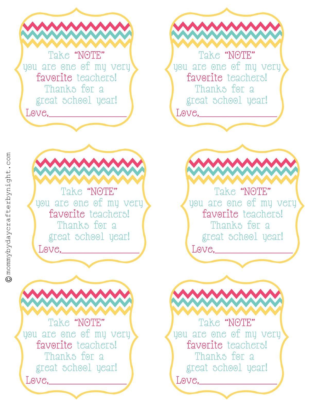 teacher gift idea   free printable  teacher appreciation