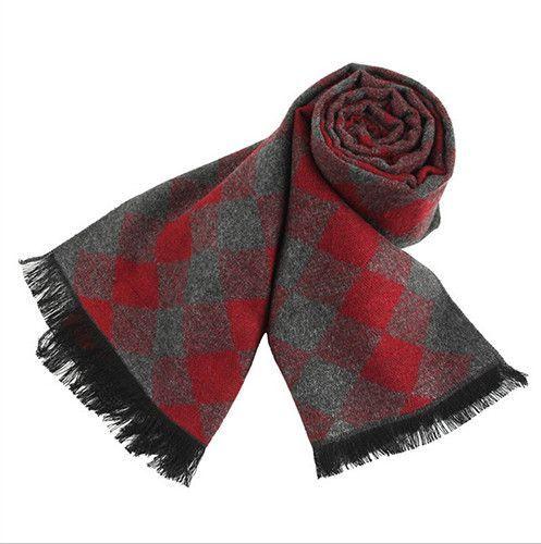 Scarves Long Thick Warm Neckerchief Modal Shawl High-grade Solid Men