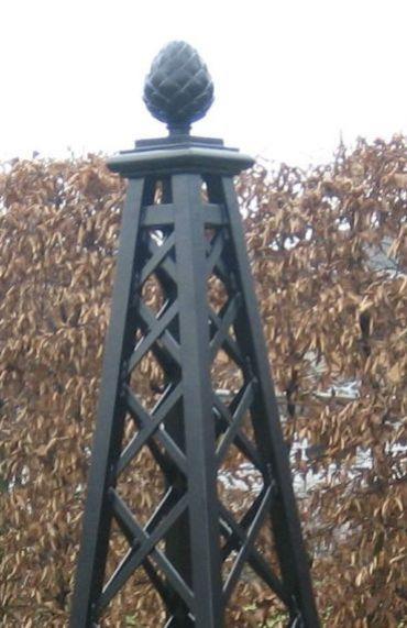 "Rose Pillar Malmaison - garden obelisk 60x60cm base (2'x2'), 226cm high (7'5"")"