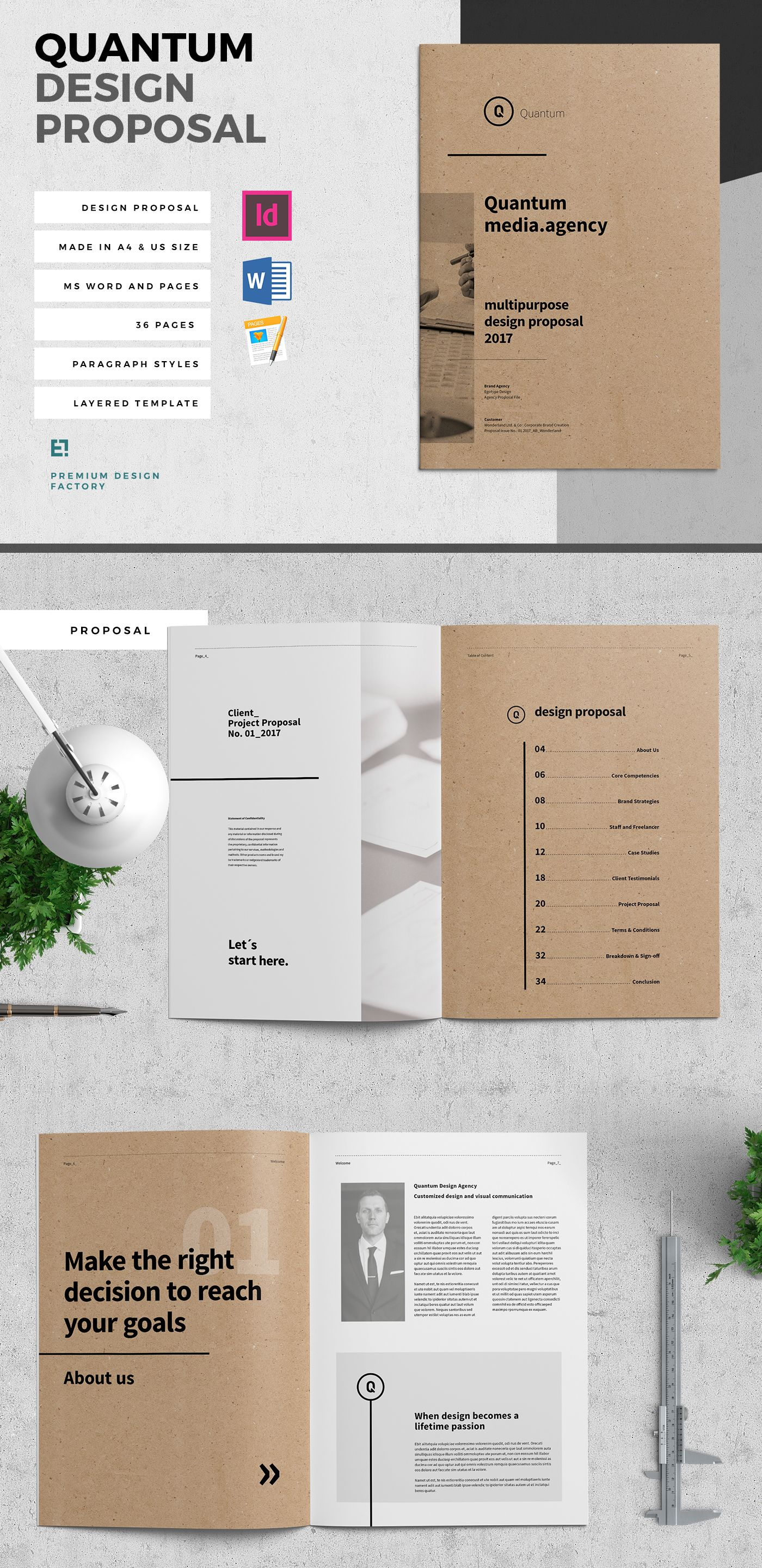 Proposal and Portfolio TemplateMinimal and Professional Proposal ...