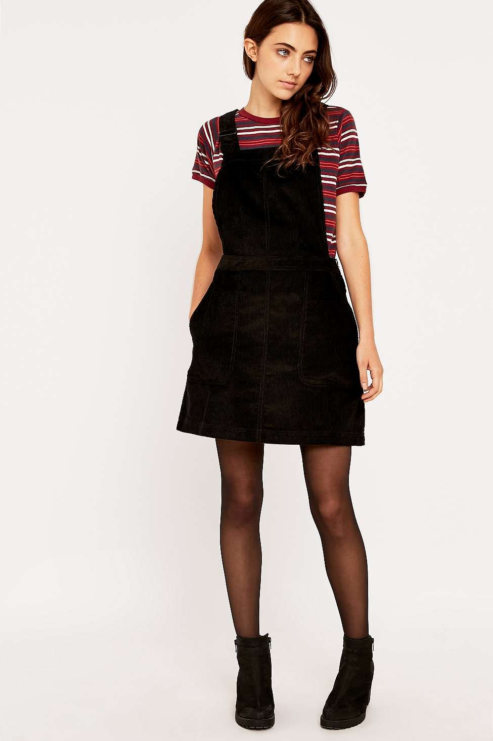 Sooo making this in jumbo cord. DG Corduroy Pinafore Dress - Urban Outfitters