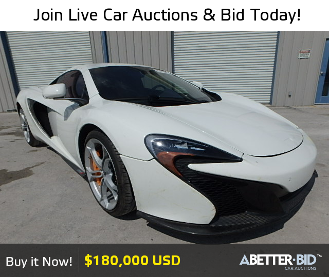 Salvage 2015 MCLAREN ALL MODELS For Sale