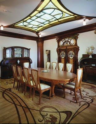 Art Nouveau House Interior Architecture The Table though nice doesn ...