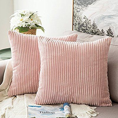 amazon com miulee pack of 2 corduroy soft soild decorative square rh pinterest com