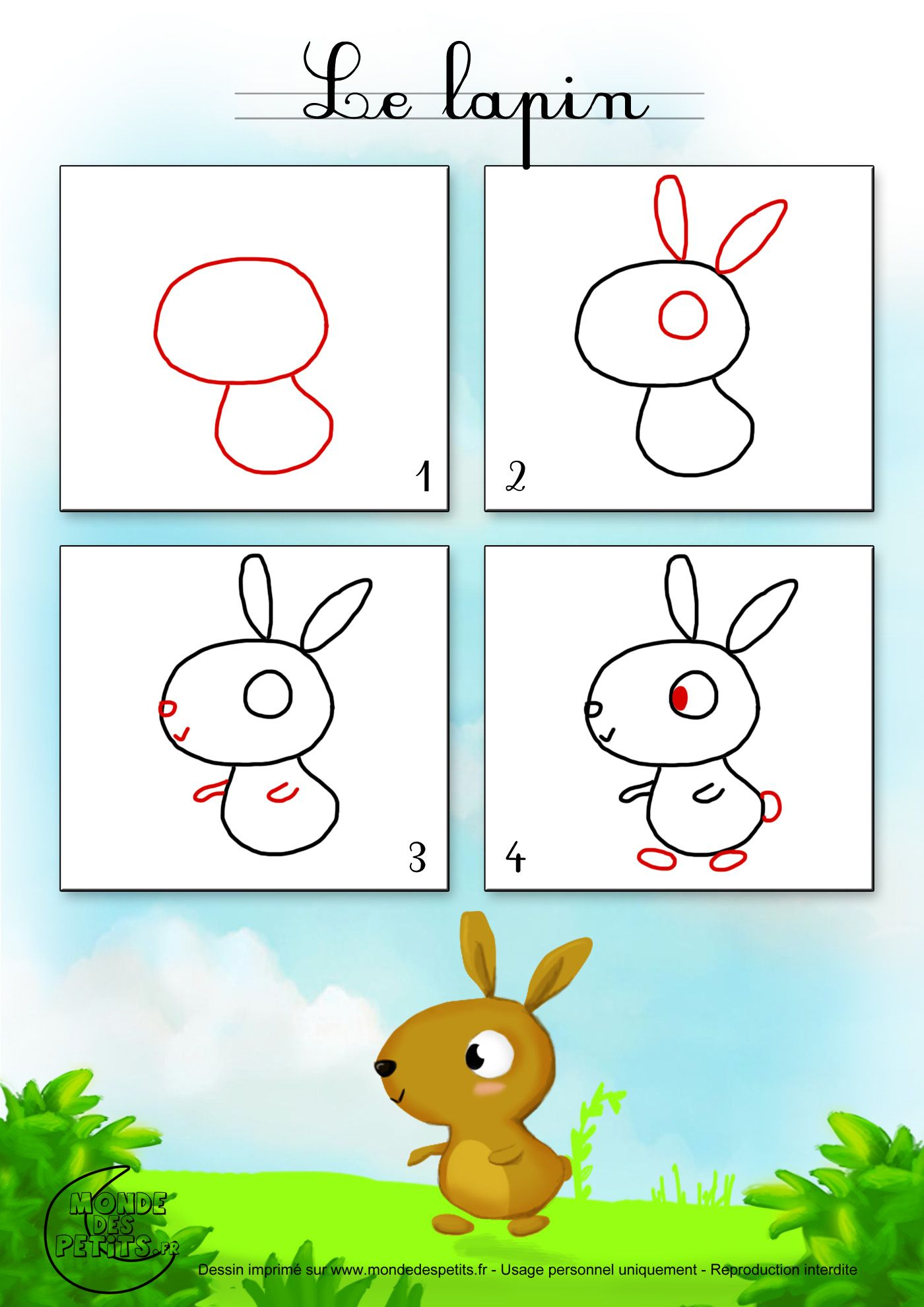 Dessin2 comment dessiner un lapin colouring for adults - Dessin un lapin ...