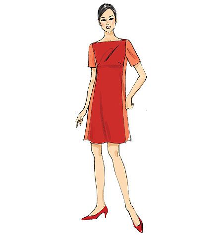 Vogue Sewing Pattern V9183 Women/'s Misses/' Panel Dresses