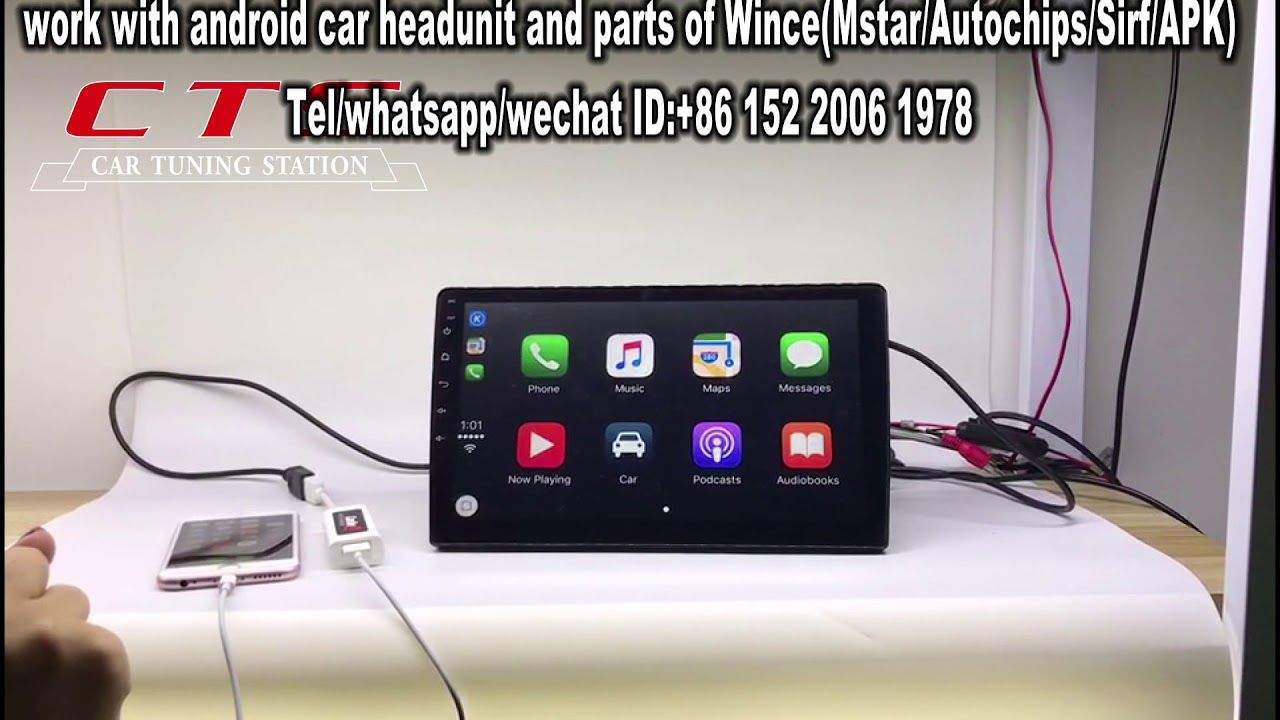 How does the USB CarPlay Dongle work in Android and WINCE