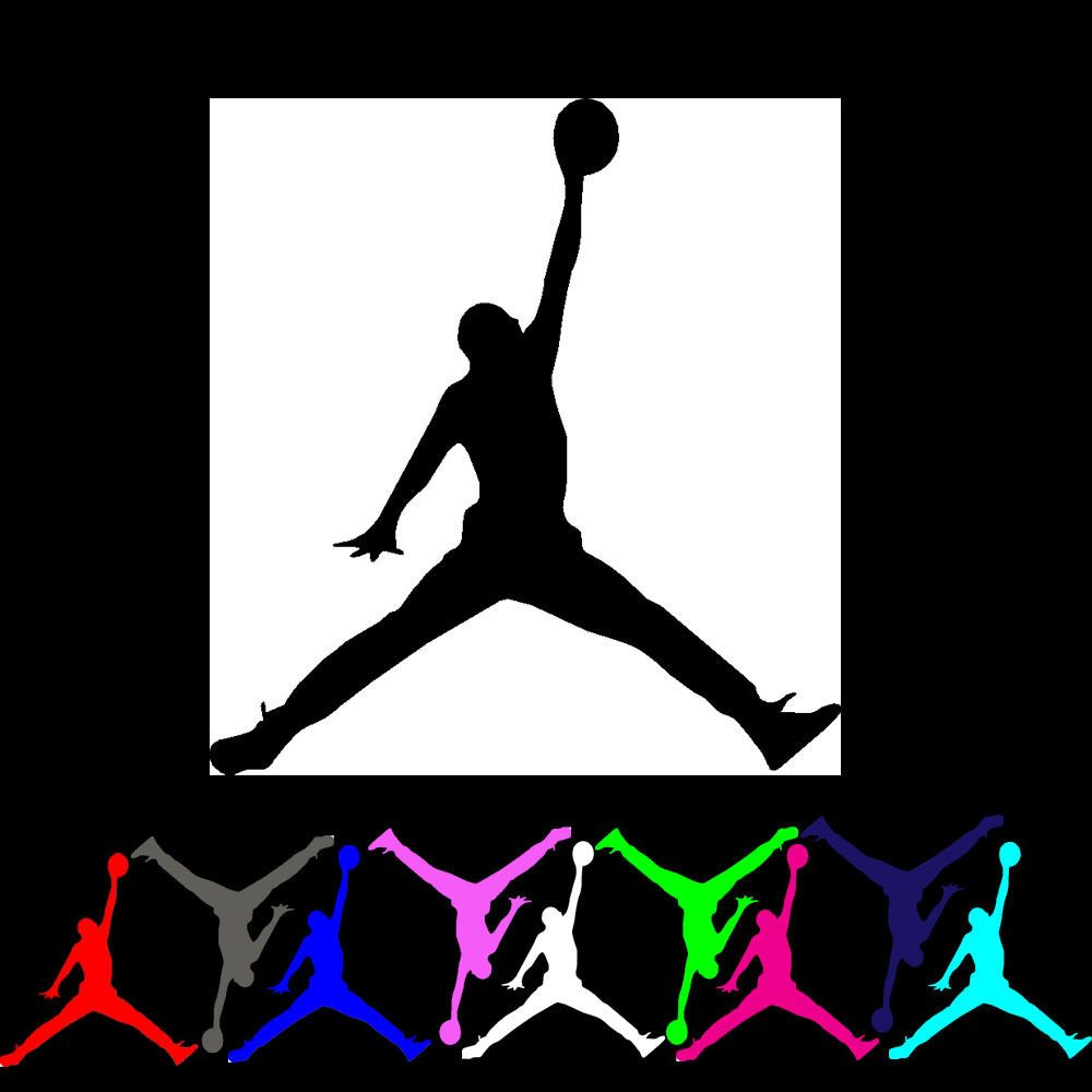 12 mini lot michael jordan air jumpman basketball logo vinyl decal sticker party home garden home décor decals stickers vinyl art ebay