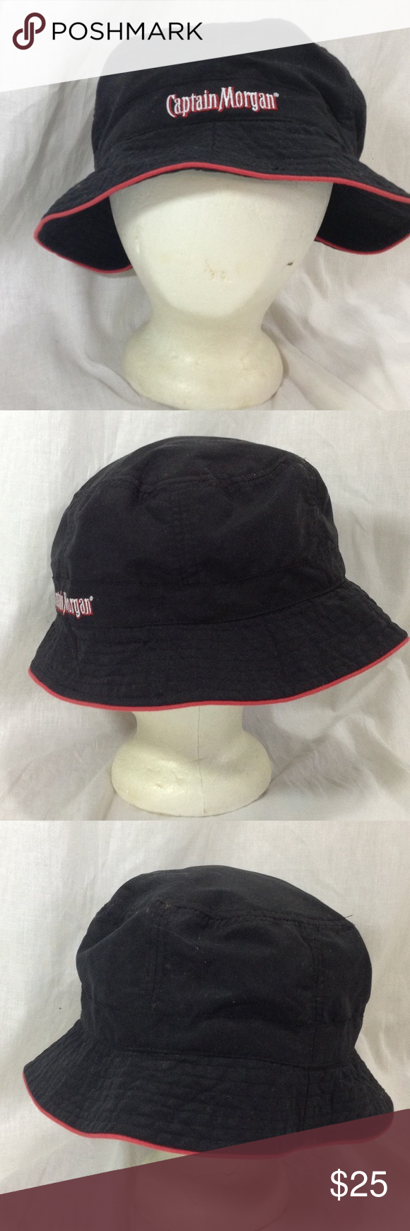 Captain Morgan Bucket Hat Fishing Cap Bucket Hat Captain Morgan Clothes Design