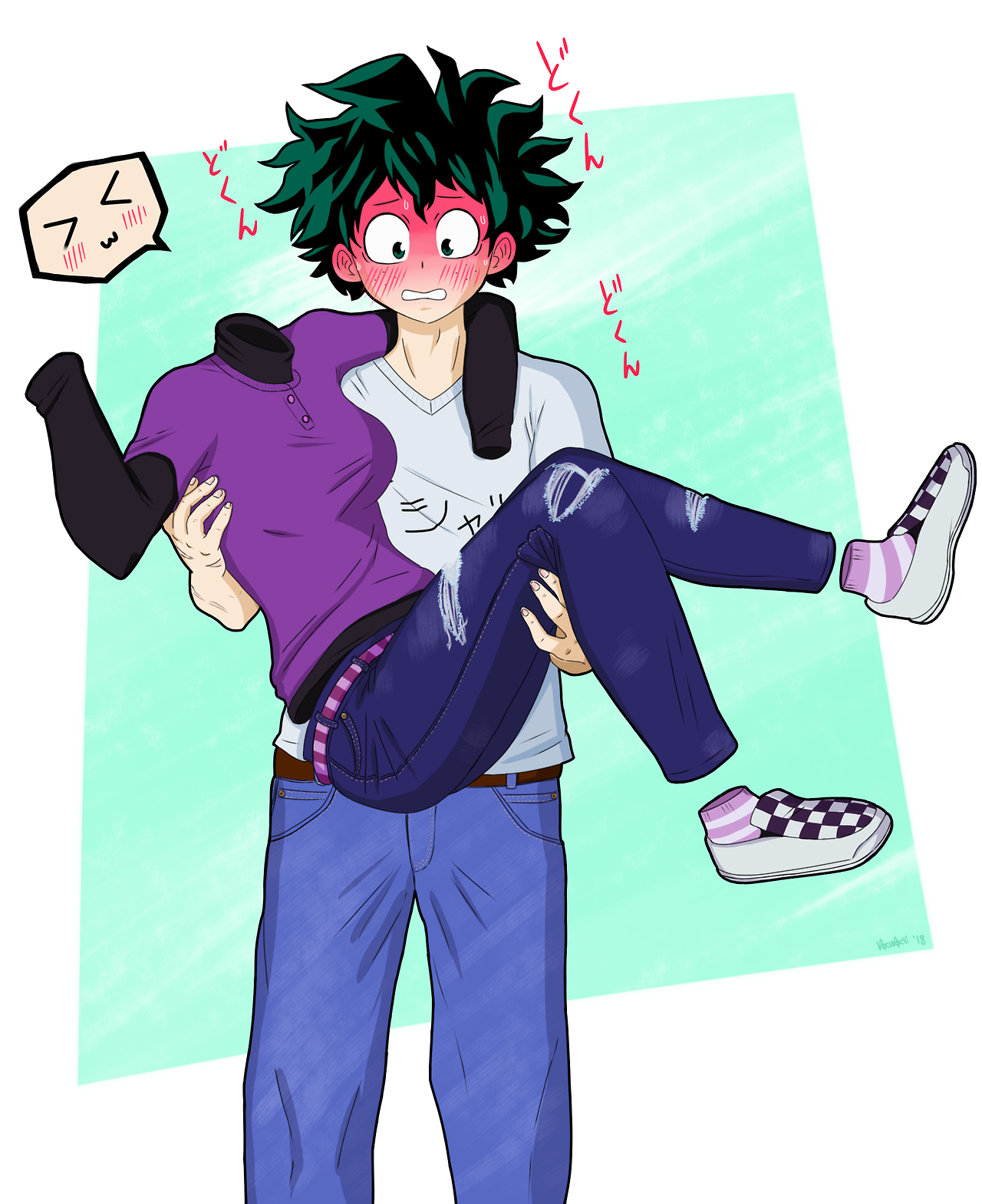 Nocunoct deku and tooru they havent even said a word to