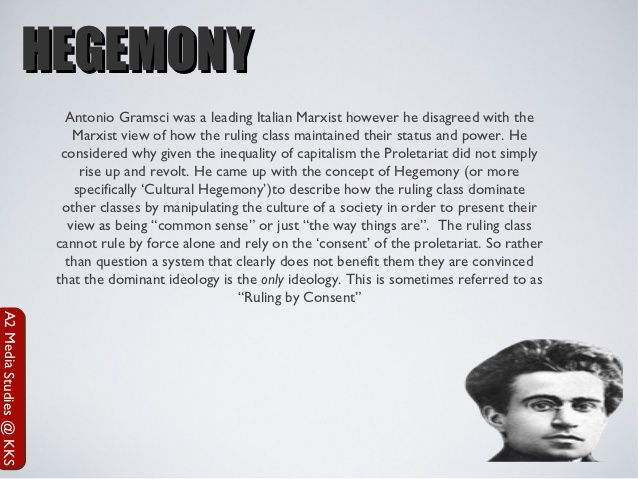 antonio gramscis concept of understanding of Start studying ch 3 learn vocabulary, terms, and more with flashcards gramsci's concept for the historical process in which a dominant group exercises moral and intellectual leadership by antonio gramsci coined the term hegemony to mean that a dominant group wins consent of the.