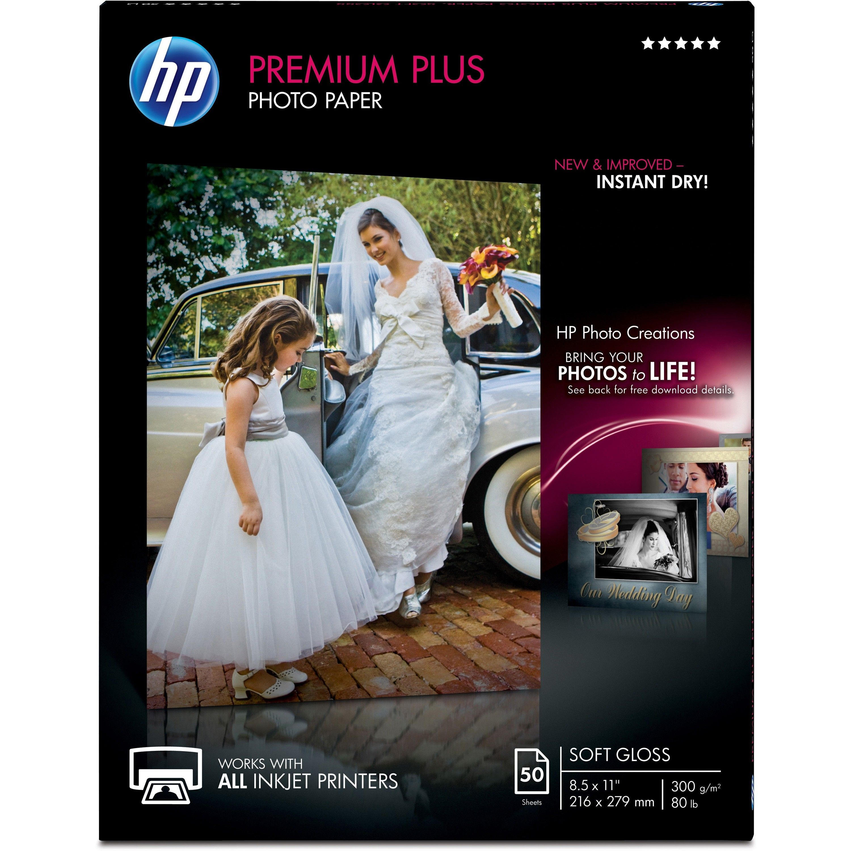 Hp premier plus inkjet print photo paper letter 8 12