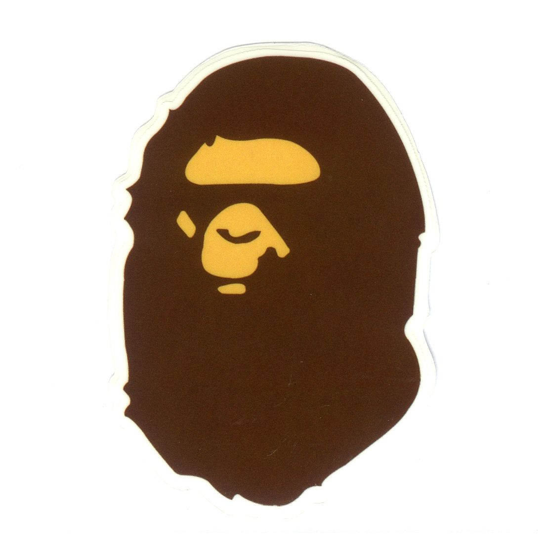 "#1747 Busy Works Bathing Ape Badge Logo semi-transparent 3/"" Decal Sticker"