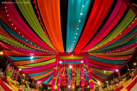Mehndi Backdrop Diy : Indian wedding backdrop ideas colorful mela themed