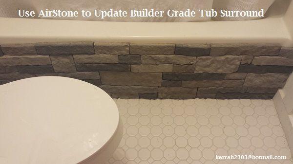 Bathroom Reveal! | Airstone, Bathroom, Tub surround