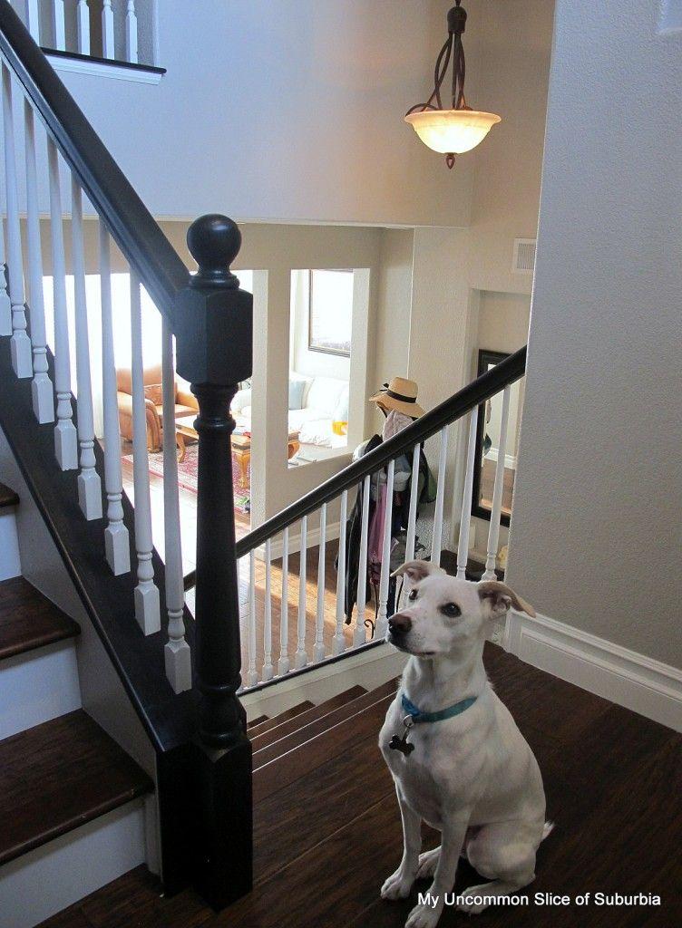 Best Painted Stair Rails Oak To Beautiful Black Stair Railing 400 x 300