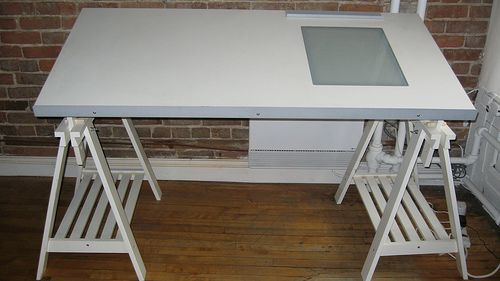 Ikea Drafting Table W Light Box 100 Drafting Table Ikea Traditional Desk