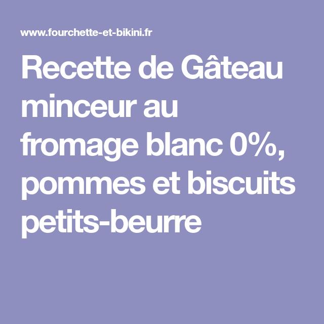 Recette de Gâteau minceur au fromage blanc 0%, pommes et biscuits petits-beurre