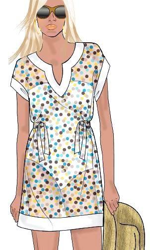 Beach Kaftan - free pdf pattern and tutorial | Sew for my body ...