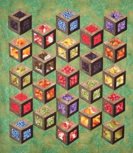 Inside the box quilt | Value Creates Dimension in Quilts