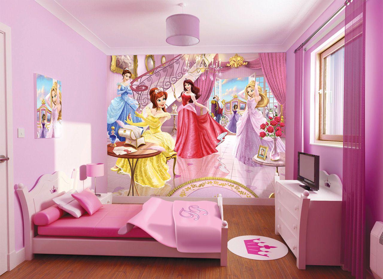 Beauty Disney Princess Wallpaper Girls Room Wallpaper Kid Room