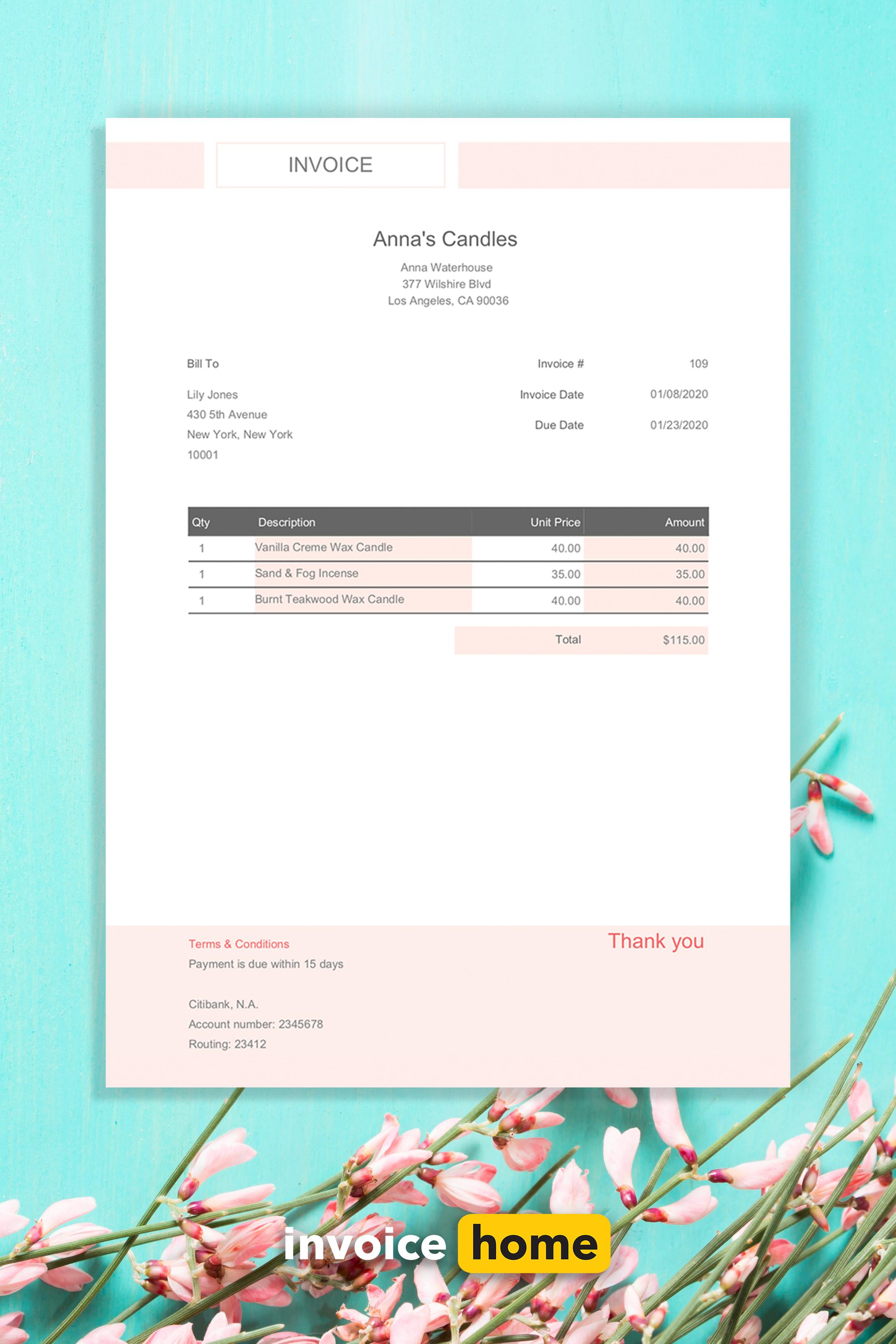Effortless Pink Invoice Design Invoice Design Invoice Template Invoice Design Template